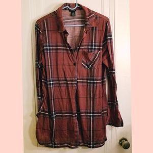 Rue21 Long Flannel Size XL
